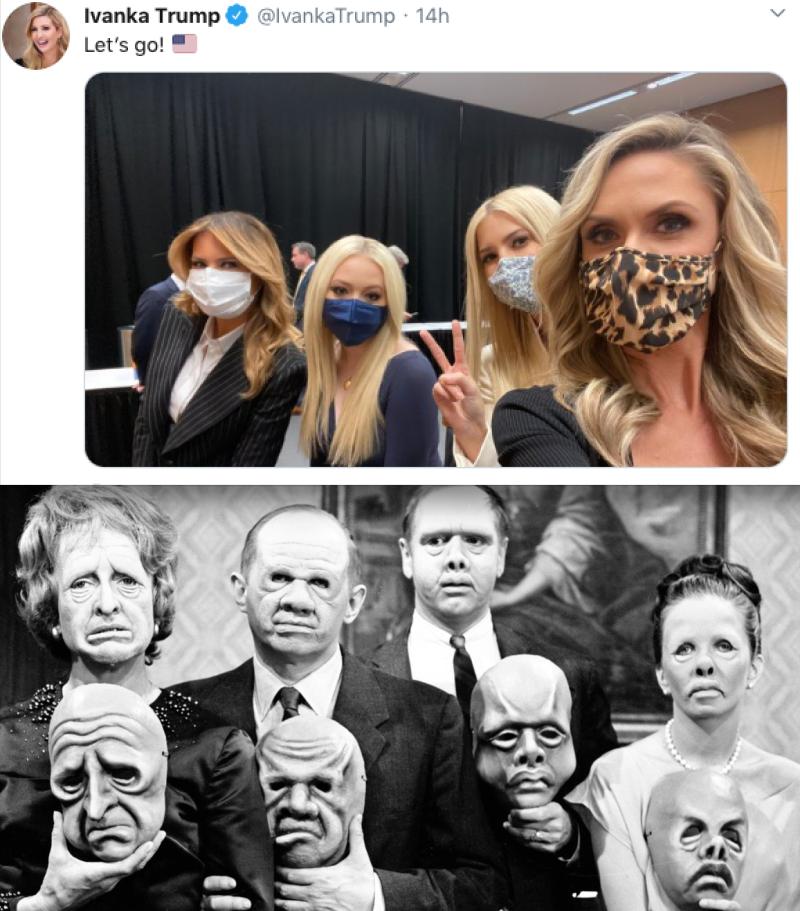 Lara-ivanka-melania-tiffany-trump-masks