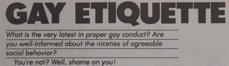 Gay Etiquette boyculture